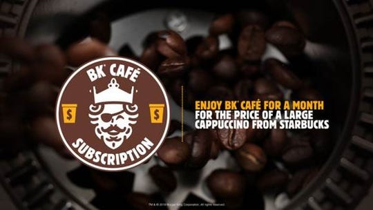 Burger King launches $5 monthly coffee subscription