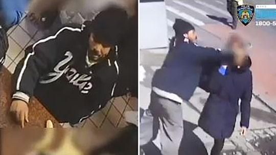 WATCH: Man slugs woman on city sidewalk in seemingly random attack