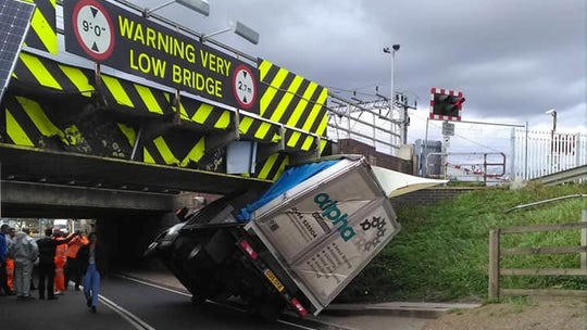 'Most bashed bridge' gets hit again by truck despite new warnings