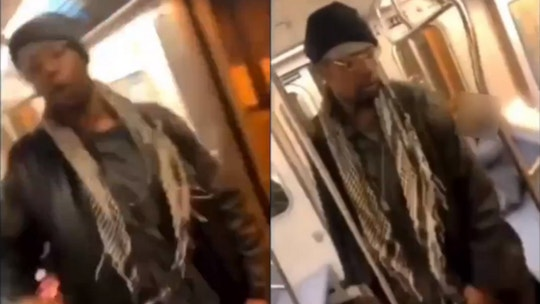 Man captured on video attacking homeless woman, 78, on subway was being threatened, fiancée says