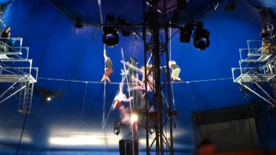 Terrifying video shows Wallenda family members, circus performers fall 30 feet in practice stunt gone wrong