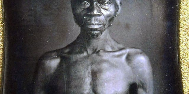 This July 17, 2018 copy photo shows an 1850 Daguerreotype of Renty, a South Carolina slave who Tamara Lanier, of Norwich, Conn., said is her family's patriarch. The portrait was commissioned by Harvard biologist Louis Agassiz, whose ideas were used to support the enslavement of Africans in the United States. Lanier filed a lawsuit on Wednesday, March 20, 2019, in Massachusetts state court, demanding that Harvard turn over the photo and pay damages.