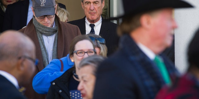 Special Counsel Robert Mueller exits St. John's Episcopal Church after attending services, across from the White House, in Washington back in March. Mueller closed his long and contentious Russia investigation with no new charges. (AP Photo/Cliff Owen)