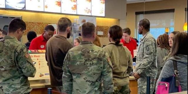 JonathanFull bought Chick-fil-A for 11 service members in North Carolina.
