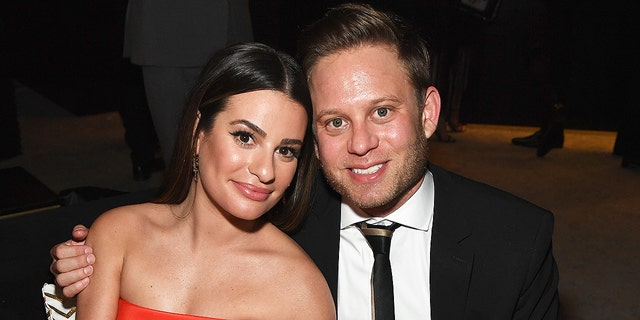 Lea Michele and Zandy Reich announced the birth of their son in August.