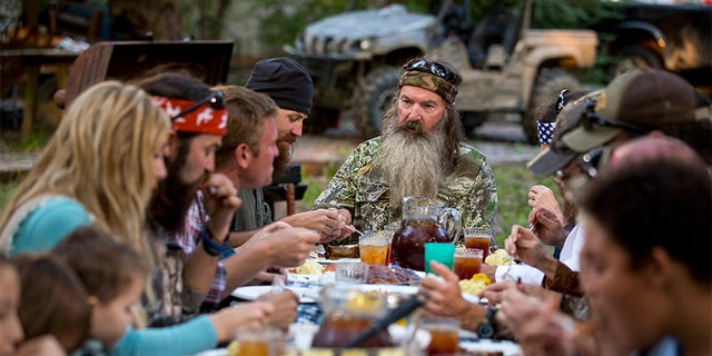 """Phil Robertson of """"Duck Dynasty"""" said he isn't fazed by fame."""