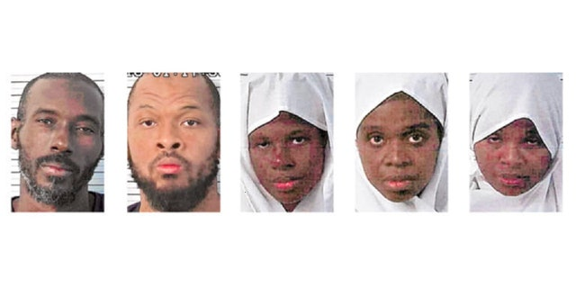 Lucas Morton (L), Siraj Wahhaj, Subhannah Wahha, Jany Leveille and Hujrah Wahhaj, are the five compound suspects.