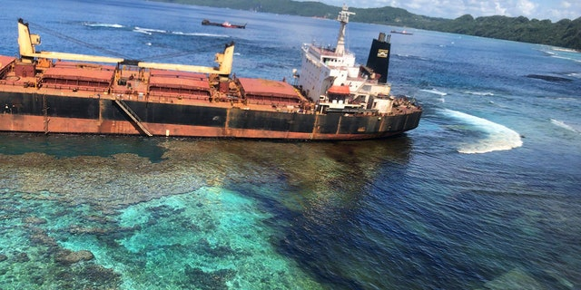 Solomon Islands locals struggle with 80-ton oil spill from grounded ship