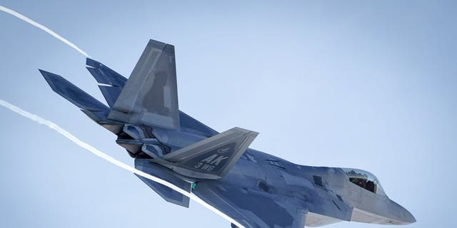 An F-22 Raptors aircraft participating in Polar Force.