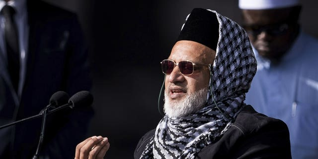 In this photo supplied by the New Zealand government, Mosque shooting survivor Farid Ahmed addresses the national remembrance service in Hagley Park for the victims of the March 15 mosques terrorist attack in Christchurch, New Zealand, Friday, March 29, 2019.