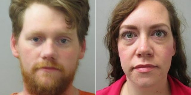 Seth Holcomb, 32, and Laney Nicholson, 33, were arrested and may face up to life in prison if convicted of first-degree robbery.