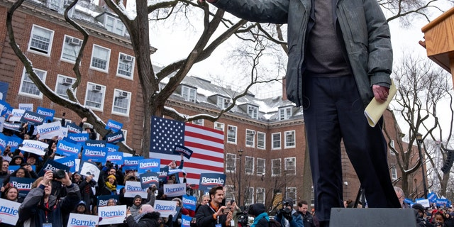 Bernie Sanders kicking off his 2020 presidential campaign earlier this month in Brooklyn, N.Y. (AP Photo/Craig Ruttle, File)