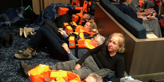 Passengers on board the Viking Sky, were waiting to be evacuated after the vessel encountered bad conditions off the coast of Norway on Saturday.