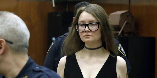 Anna Sorokin is on trial on grand larceny and theft-of-services charges. (AP Photo/Richard Drew)