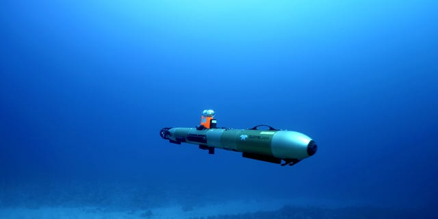 An autonomous underwater vehicle (UAV) was used to locate the wreckage. (Credit: Dr. Art Trembanis, University of Delaware)