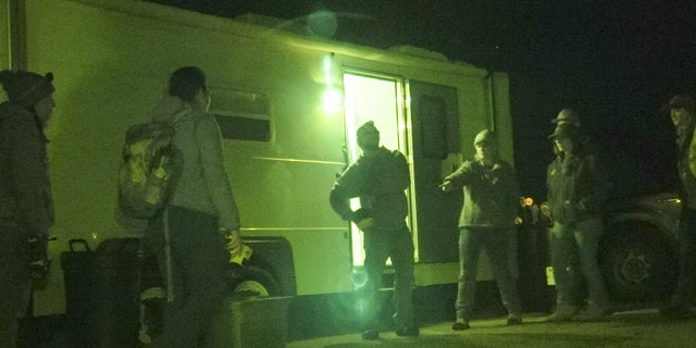 With freezing temperates on the first night of the search, around 10 of the volunteers showed up