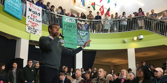 March 20, 2019: Beto O'Rourke speaks at Plymouth State University in New Hampshire.