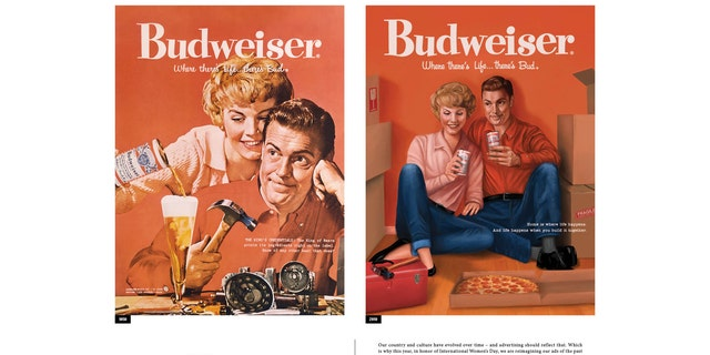 """Home is where life happens, and life happens when you build it together,"" reads the new copy on a reworked ad from 1958."