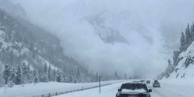 An avalanche barreled through Ten Mile Canyon between Frisco and Copper Mountain along Interstate 70 on Sunday.