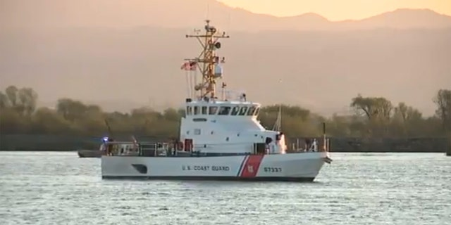 The U.S. Coast Guard located the boat with the children driving in the San Joaquin River on Friday.