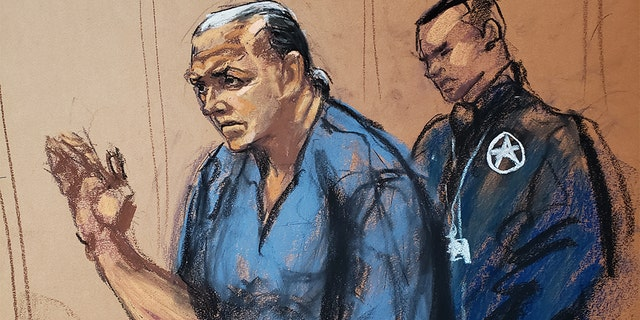 """During his court appearance Thursday, Sayoc read aloud a statement and said he """"made devices designed to look like"""" a bomband sent them through the mail."""