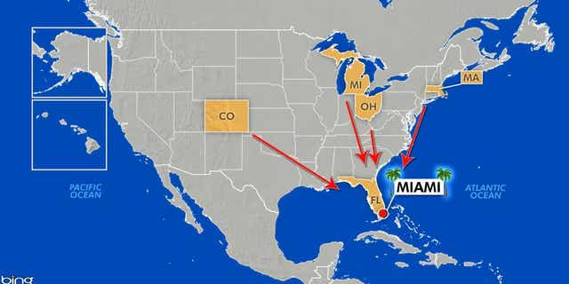 Students from other states head to Miami for some fun in the sun
