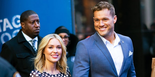 Colton Underwood and Cassie Randolph at GMA on March 13, 2019 in New York City.