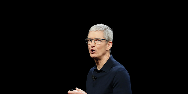 Apple CEO Tim Cook is one of several tech executives being impersonated by users on Facebook. (AP Photo/Marcio Jose Sanchez, File)