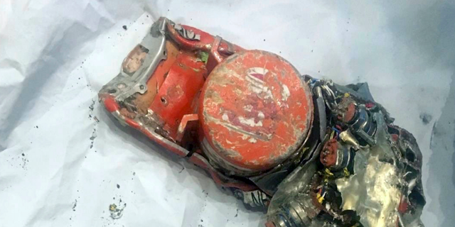 Photo shows one of the black box flight recorder from the crashed Ethiopian Airlines jet. (BEA via AP)