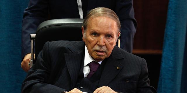 FILE - In this May 4, 2017 file photo, Algerian President Abdelaziz Bouteflika prepares to vote in Algiers. (AP Photo/Sidali Djarboub, File)