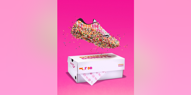 Doughnut-inspired footwear released in time for Boston Marathon runners.