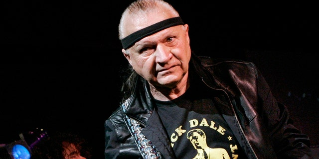 """Dick Dale, known as """"The King of the Surf Guitar,"""" performs at B.B. King Blues Club in New York. Dale has died at age 81. His former bassist Sam Bolle says Dale passed away Saturday night, March 16, 2019. No other details were available. (AP Photo/Richard Drew, File)"""