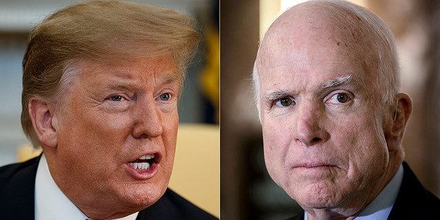 Former President Trump and the late U.S. Sen. John McCain, R-Ariz., did not see eye-to-eye on repealing ObamaCare.