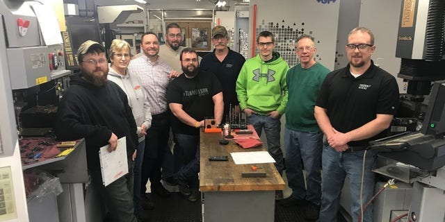 The team at JIT Tool and Die Inc., in Brockway, Pa., were recipients of an EDA loan.