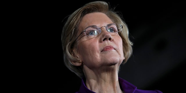 Senator Elizabeth Warren (D-MA), one of the Democrats to run for the party's nomination for the 2020 presidential race, expresses it at a campaign event. (Photo by Drew Angerer / Getty Images)