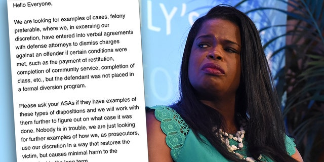 An internal email from Kim Foxx's office obtained by Fox News asked workers to dig for examples bolstering Foxx's claim that the dropped charges in the Jussie Smollett case weren't as uncommon or shocking as they seemed.