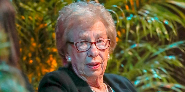 Eva Schloss, an 89-year-old survivor of the Holocaust, was scheduled to speak on Thursday to high school students who have been accused of giving Nazi salutes around a swastika at a party.