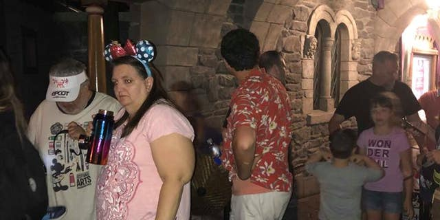 "Turco was found three hours later in line for the ""Frozen"" ride."