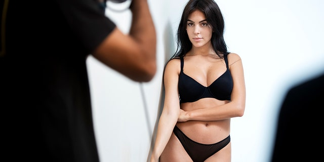 Model Georgina Rodriguez posed in swimwear as the new face of Yamamay.