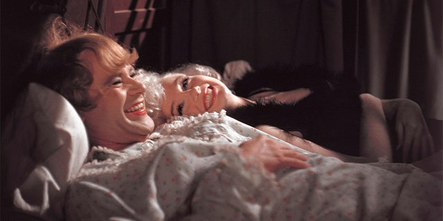 "1958: Marilyn Monroe and Jack Lemmon on the set of the film ""Some Like it Hot"" in Los Angeles."