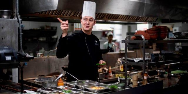 Australian chef Paul Smart inside the Metropole Hotel's kitchen in Hanoi.