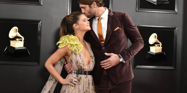 Maren Morris and Ryan Hurd attend the 61st Annual Grammy Awards at Staples Center on February 10, 2019 in Los Angeles, California.