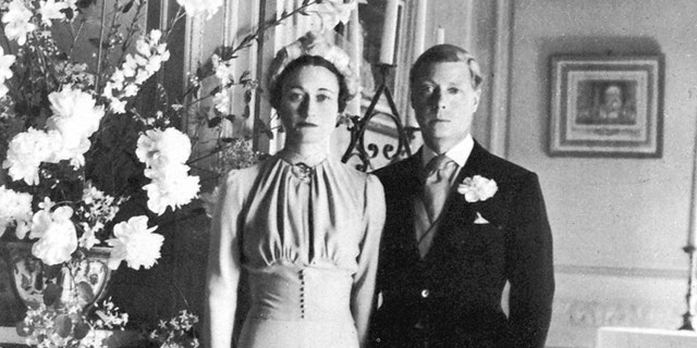 The marriage of the Duke of Windsor and Wallis Simpson, June 3, 1937.