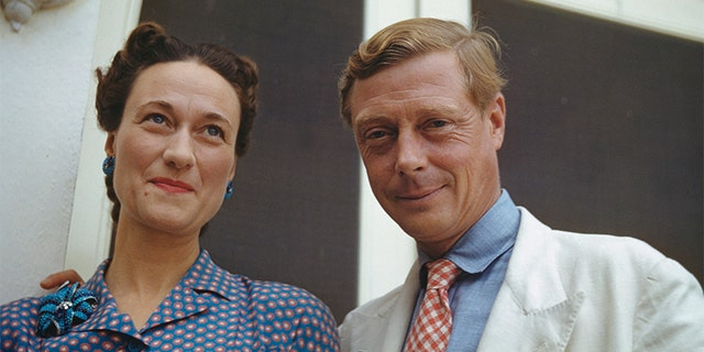 Wallis, Duchess of Windsor (1896-1986) and the Duke of Windsor (1894-1972) outside Government House in Nassau, the Bahamas, circa 1942. The Duke of Windsor served as Governor of the Bahamas from 1940 to 1945.