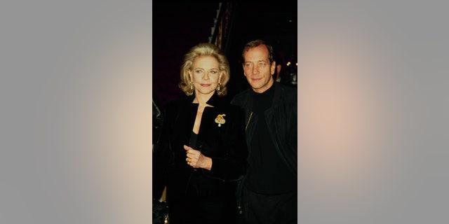 Lauren Bacall with her son Stephen Bogart.