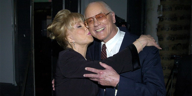 Barbara Eden and Larry Hagman during the 2004 TV Land Awards in Hollywood, Calif.