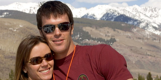 VAIL, CO - APRIL 18: Reality TV stars Trista Sutter and Ryan Sutter pose on April 18, 2005 in Vail, Colorado. —?. Photo by Bo Bridges/Getty Images