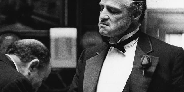 "Marlon Brando during a scene in ""The Godfather."""