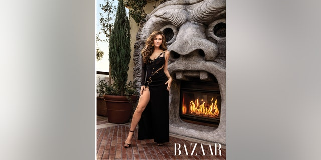Elizabeth Hurley in Harper's BAZAAR's April Issue.