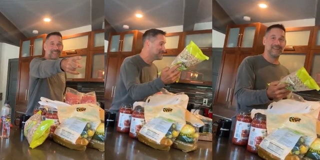 One California father has gone massively viral on Twitter for his sheer joy in showing off the grocery haul from his first-ever trip to Costco.